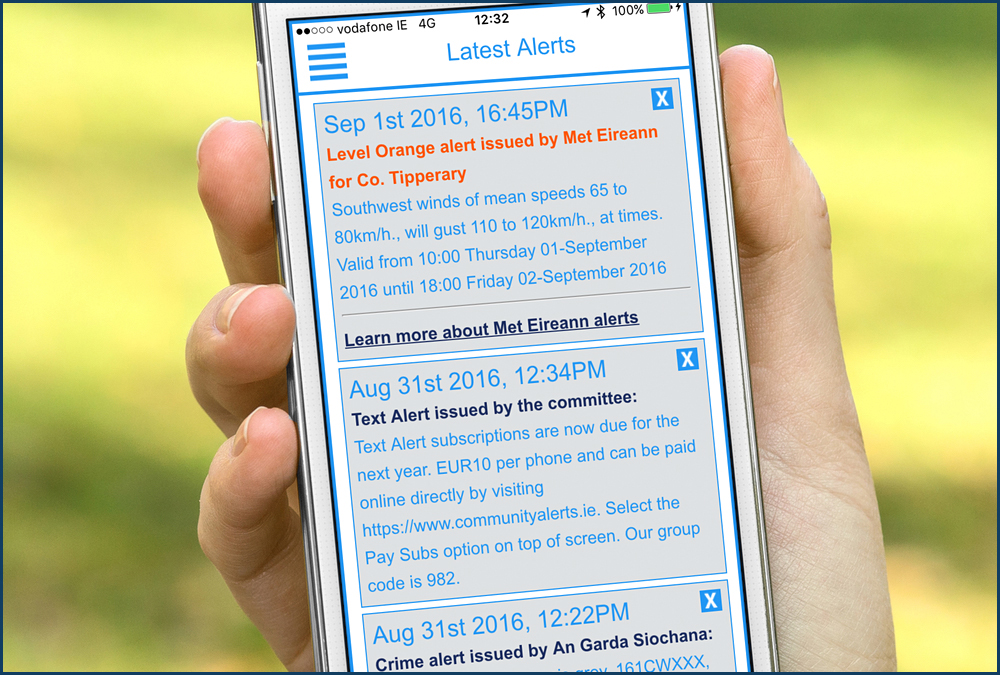 Our Smartphone App is the future of Text Alert