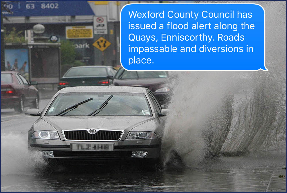 Alerts from Gardaí, Met Eireann, Local Authorities and more...